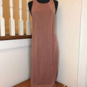 LuLus Mauve Racerback Midi Dress Size Small